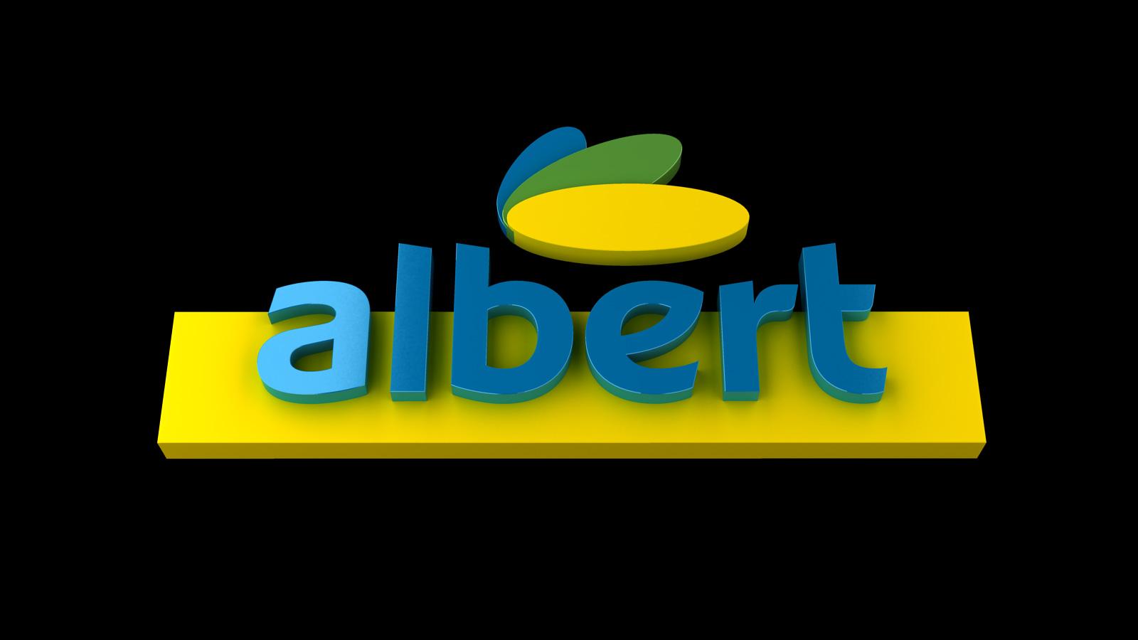 Ahold Albert Logo 3d